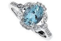 March Aquamarine / The delicate blue of the aquamarine, will make you wish you had a March birthday!