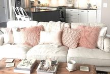 interior decor / room, living room, pillow, couch, dream home