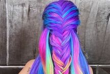 Lovely, colorful hair <3 / ^^^^^