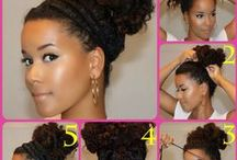 Hairstyles / Styling my hair. Natural hair, Weaves & Braids