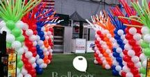 Balloon Columns / Adding balloon columns to an event can create a focal point for your guests or aid in directing them to the correct areas.   Want more? Visit www.balloonsbytommy.com