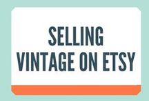Selling Vintage On Etsy / I love checking out the amazing vintage clothes on Etsy but I know many sellers have trouble with pricing and moving their vintage stock. This board is for you guys.