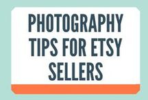 Photography Tips for Etsy Sellers / THE MOST IMPORTANT part of your Etsy listings is your photography. It's not that hard to take great photos....with a little practice. Here are some great Photography Tips for Etsy Sellers
