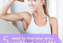 Arms exercises / Arms workouts / by Jennifer Down
