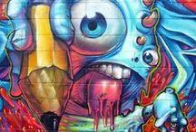 Graffiti Art / Graffiti art in urban hotspots