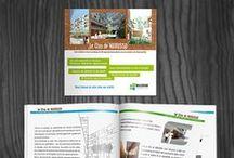 Identity Millenium Immobilier / Design for a real estate Millenium Immobilier : Identity, Digital and Print media. Communication digitale et imprimée du promoteur MILLENIUM IMMOBILIER.