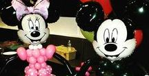 Mickey Mouse and Minnie Mouse Balloon Decor / Disney's Mickey and Minnie Mouse are a popular party theme and decor choice.  Here are some balloon ideas to help with your next party!   Want more? Visit www.balloonsbytommy.com