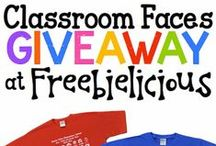 Classroom Faces / Class shirts with self portrait photos drawn by your students!