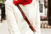 Style inspiration for autumn/winter / Tällä hetkellä houkuttaa neuleet, yksinkertaiset kerrokset, suorat linjat, muhkeat huivit (lue: huilit), korkeat nutturat ja rennosti auki jätetyt hiukset.  Värit: kaikki maanläheiset ja valkoinen, kukkakuviot. Lisäksi ilahduttaa iloisuus, rentous, naisellisuus ja söpöys.