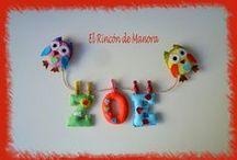 Nombres en fieltro (By Manora) / Nombres realizados con fieltro