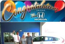 I bought a HONDA! / Congratulations on your new vehicle from Patterson Honda!