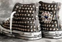 Converse  / Converse is definetly my fav shoes, gotta love them with studs!
