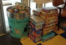 Donations Shelter / Things that are donated to the Delta Humane Society & SPCA. Examples: pet food, supplies, equipment, etc...