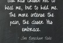 Joni Eareckson Tada / Joni Eareckson Tada is an amazing Christian woman who uses her disability for the glory of God. What a testimony she has! / by Karen Ellis Jelliff