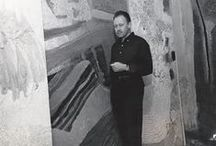 Hugh Wiley (1922-2013) / Hugh Wiley (1922-2013) was an artist, muralist and educator. He studied at the Pennsylvania Academy of Fine Arts and later taught at the California College of the Arts in Oakland, CA.  Hugh initiated and was Director of the Environmental Studies Program from 1968-1980. Later in his life, he served as an Arts Commissioner on the Willits Art Council.