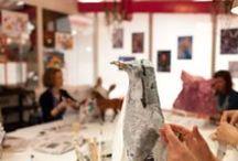 Cours Papier Mâché Rrose Sélavy - Paris / L'atelier Rrose Sélavy dans le 9é à Paris vous fait découvrir toute la technique du papier mâché et vous permet de réaliser des sculptures étonnantes... Professeur Intervenante Laurence Lehel