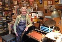 Carol Cunningham (1925-2013) / Bay Area printmaker, painter, and book artist.  Founded Sunflower Press in Marin in the early 1960s.  Member of Moxon Chappel, the Miniature Book Society, the Small Book Club of Marin, and the Colophon Club.