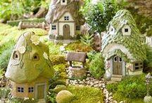 Jardim de Fadas / Essas decorações fofas deixam qualquer jardim mais mágico, mesmo que seja só um terrarium <3