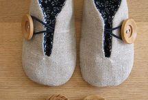 Baby shoes / Sapatos para bebés tricot crochet e costura