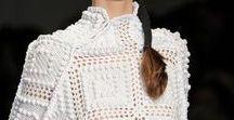 Crochet in Fashion / Inspiração dos Fashion Designers para trabalhos em  Crochet