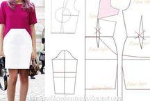 Sewing patterns and tutorials / Modelagem e tutoriais costura