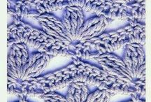 Crochet Stitches / Crochet Ganchillo Pontos Padrões Diagramas Gráficos  Handmade