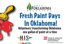 Fresh Paint Days in Oklahoma  / Fresh Paint Days is a Keep Oklahoma Beautiful project designed to encourage volunteers to seek out unsightly community structures and renovate them with the creative use of resources. Willing volunteers will make use of paint, donated by H.I.S. Coatings of Oklahoma City and a stipend for supplies, funded by Public Service Company of Oklahoma to transform that community blemish over a period of a few days with just the application of FRESH PAINT and a lot of elbow grease!