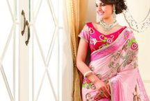 Elegant Designer Saree's / Heighten up your charismatic look with this alluring collection of sarees and look  ideal for every occasion. The fascinating colours and the unique designs with intricate decorative designs, gives a georgeous look to the wearer make it stunning and different from others. Various kinds of these materials are available at the Samyakk online shopping stores, so grab them and look different and striking among all.
