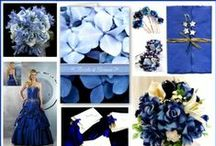 """Weddings: Blue Satin Sashes / """"Girls in white dresses with blue satin sashes, snowflakes that fall on my nose and eyelashes . . . These are a few of my favorite things! . . ."""""""