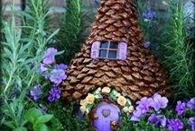 Fairy Houses I Bird Houses I Terrariums / Collection of whimsical fairy houses, delightful fairy gardens and sweet DIY bird houses that tickle the imagination...terrariums, too!  Oh yes, and don't forget bird FEEDERS!  Make some yourself and be sure to include your children in the project. What a fun time you will have!