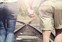 Couple Photographies - Rail way / Partner Shooting  Thema Bahnschienen
