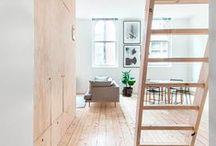 I N T E R I O R S / Clean, simplistic design interior. Clean spaces and neutral colours  / by Elani Joubert
