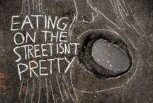 Street Art in Advertising / Utilizzo di tecniche e idee della Street Art nelle campagne pubblicitarie.  (Ricerca visiva per il corso di Art Direction, Accademia di Belle Arti)