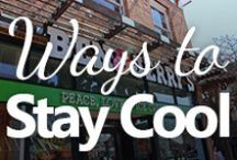 Ways to Stay Cool / Stay cool when it's hot! Cold treats, swimming spots.