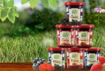 Confitures Jardin BiO' / Allégées en sucre pour un goût authentique, savoureux et sain, découvrez la gamme de confitures Jardin BiO'