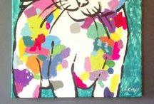 = ^ . . ^ = Roxanne Kitty - Paintings