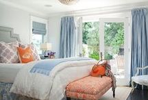 Snoozing Through Spring / Beautiful bedrooms in cheerful spring colours