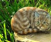 = ^ . . ^ = Cats - Stone Painting