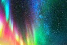 The magic of aurora borealis / Kaleidoscope of colours