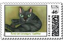 = ^ . . ^ = CATS - On Stamps