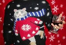 """= ^ . . ^ = CATS - """"Cute"""" Christmas Sweaters"""