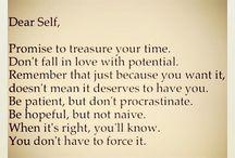 Dear Self..