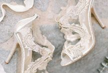 Bridal Shoes  / From Flats, heels & bare feet, shoes fit for a princess on her wedding day. Crystals, sparkles & glam