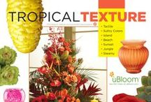Tropical Texture / 1 of 4 Concept Boards for the uBloom Trend Analysis... Featuring Flowers, Foliage and Elements that translate and communicate the Tropical Texture Concept... Visit often to see the latest Pins... as this concept evolves! Watch the Free Video on uBloom.com (http://ubloom.com/blog/2012/09/16/the-ubloom-trend-analysis-introducing-the-%E2%80%9Ctropical-texture%E2%80%9D-concept/ )