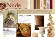 Nude / This palette concept logically originated in high-end women's lingerie and has methodically crept to handbags, home interiors and everywhere else. think of the skin tones of everyone on the entire planet and you'll start seeing Nude.  Order your NEW uBloom Trend Synthesis Today... Special Introductory Offer 50% off...   http://ubloom.com/blog/2014/01/05/new-ubloom-trend-synthesis-guide-2014-2015/