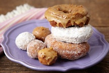 """sweets - """"fried"""" goods / donuts, churros, other deep fried sweets / by Sylvia"""