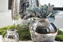 Burlap / Mason Jars & Mercury Glass