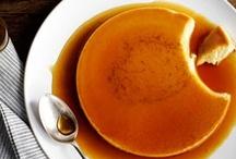 sweets - custards & puddings / crème brûlées, custards, flans, mousses, panna cottas, pots de crème, puddings, trifles / by Sylvia