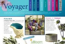 Voyager / Voyager Trend uBloom Trend Synthesis® 2014. Voyager appeals to the traveler in all of us, whether in the hues of the sky or of the seas. The wide palette of blues reveals the growing significance of water. Multi-layered blue hues transition to purples, pinks and deeper reds.  Order your Copy of the NEW uBloom Trend Synthesis Today... Introductory Offer 50% off...   http://ubloom.com/blog/2014/01/05/new-ubloom-trend-synthesis-guide-2014-2015/