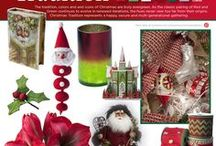 Christmas Tradition / The tradition, colors and icons of Christmas are truly evergreen. As the classic pairing of Red and Green continues to evolve in renewed iterations, the hues never veer too far from their origins. Christmas Tradition represents a happy, secure and multi-generational gathering.